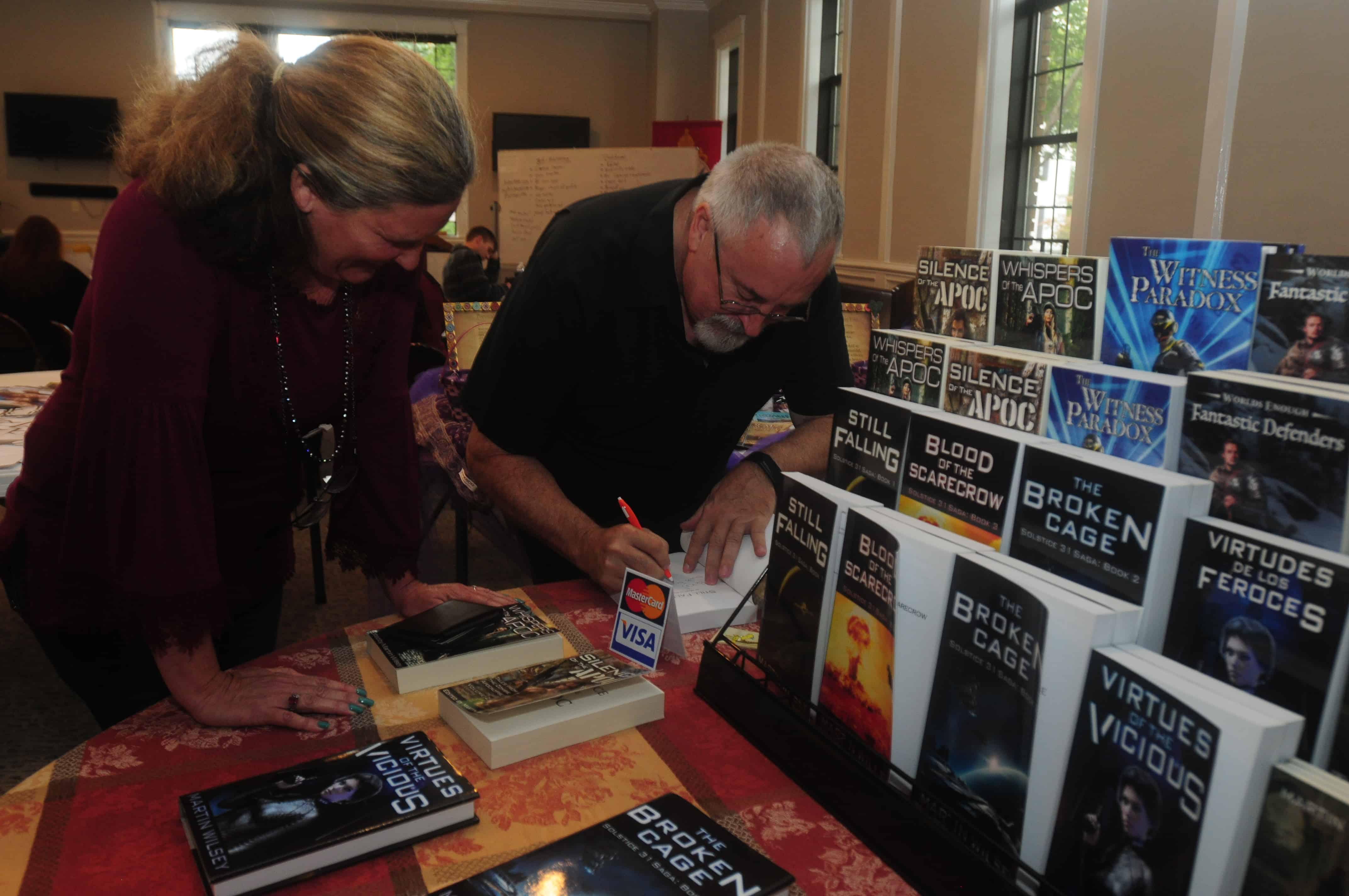 Becks Marty Book Signing Fall Writer's Workshop 2019